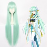 100cm Long Straight Light Green Fate/Grand Order Kiyohime Wig Cosplay Synthetic Anime Hair Wigs CS-366A