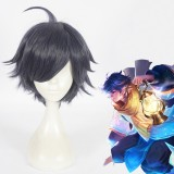 30cm Short Dark Blue Glory of Kings Hair Wigs Synthetic Anime Cosplay Costume Wig CS-365A
