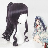 55cm Long Curly Dark Purple Hair Card Captor Sakura Tomoyo Wig Synthetic Anime Cosplay Wigs+1Ponytail CS-361B