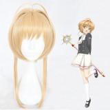 40cm Medium Long Dark Blonde Card Captor Sakura Kinomoto Sakura Wig Synthetic Anime Cosplay Hair Wigs CS-360A