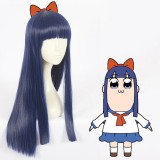 60cm Long Straight Blue POP Team Epic Pipimi Wig Synthetic Anime Cosplay Wig CS-363A