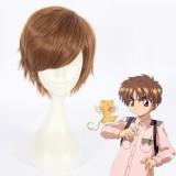 30cm Short Light Brown Card Captor Sakura Cosplay Li Syaoran Wig Synthetic Anime Cosplay Wig CS-360D