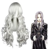 90cm Long Wave Angel Sanctuary Rosiel Wig Synthetic Silver Gray Anime Cosplay Wig CS-034B