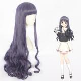 90cm Long Curly Purple Mixed Card Captor Sakura Tomoyo Wig Synthetic Anime Cosplay Wigs CS-360B