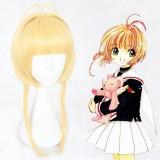 40cm Medium Long Blonde Card Captor Sakura Kinomoto Sakura Wig Synthetic Anime Cosplay Hair Wigs CS-359A