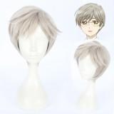 30cm Short Light Gray Card Captor Sakura Cosplay Tukisiro Yukito Anime Wig Synthetic Hair Wig CS-360C