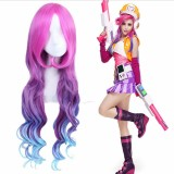 80cm Long Wave Three Colors Mixed League of Legends LOL Miss Fortune Wig Synthetic Anime Cosplay Wigs CS-119B