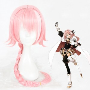 80cm Long Pink Fate/Apocrypha Astolfo Wig Synthetic Heat Resistant Anime Cosplay Hair Wigs CS-345F