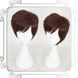30cm Short Brown Stnthetic Party Hair Wig Heat Resistant Anime Cosplay Lolita Wig CS-320A