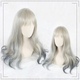 65cm Long Curly Color Mixed Synthetic Party Hair Wigs Heat Resistant Anime Cosplay Lolita Wig CS-802A