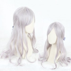 65cm Long Wave Light Purple Mixed Synthetic Party Hair Wigs Heat Resistant Anime Cosplay Lolita Wig CS-807A