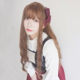 65cm Long Curly Brown Synthetic Fashion Hair Wigs Heat Resistant Anime Cosplay Lolita Wig CS-817A