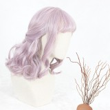 40cm Short Curly Taro Mixed Wigs Synthetic Anime Heat Resistant Hair Cosplay Lolita Party Wigs CS-808A