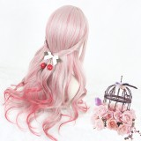 65cm Long Wave Red Mixed Synthetic Party Hair Wigs Heat Resistant Anime Cosplay Lolita Wig CS-806A