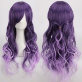 65cm Long Curly Purple Mixed Wig Synthetic Anime Party Hair Anime Cosplay Lolita Wigs CS-330A
