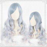 65cm Long Wave Blue Mixed Synthetic Party Hair Wigs Heat Resistant Anime Cosplay Lolita Wig CS-803A
