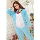 Cartoon Flannel Unisex Adult Doraemon Sleepwear Animal Onesie Cosplay Halloween Costume Pajamas Sets KT001