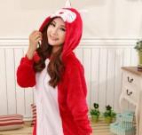 Adult Cartoon Flannel Unisex Ali Animal Onesies Anime Kigurumi Costume Pajamas Sets KT005