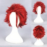 30cm Short Red K Suoh Mikoto Wig Synthetic Party Hair Wig Anime Cosplay Wigs CS-279A