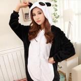 Adult Cartoon Flannel Unisex Panada Animal Onesies Anime Kigurumi Costume Pajamas Sets KT007