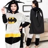 Adult Cartoon Flannel Unisex Batman Animal Onesies Anime Kigurumi Costume Pajamas Sets KT067