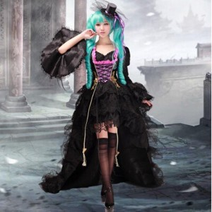 High Quality Vocaloid Miku Costume Halloween Party Lolita Dress Anime Cosplay Costume HD006