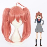 45cm Medium Long Watermelon Red Darling in the Franxx Miku Synthetic Anime Cosplay Wigs 2Ponytails CS-368D