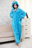 Adult Cartoon Flannel Unisex Blue&Red Cookie Monster Onesie Animal Onesies Anime Kigurumi Costume Pajamas Sets KT090