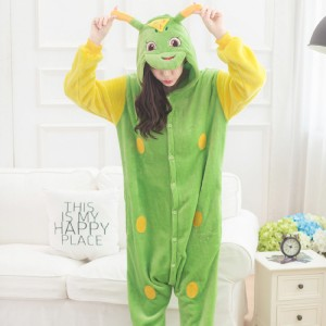 Adult Cartoon Flannel Unisex Tangbao Animal Onesies Anime Kigurumi Costume Pajamas Sets KT079