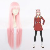 100cm Long Straight Light Pink Wig Darling in the Franxx Zero Two Synthetic Anime Cosplay Hair Wigs CS-368B