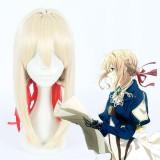 45cm Meduim Long Light Golden Violet Evergarden Cosplay Anime Synthetic Hair Wigs CS-367A
