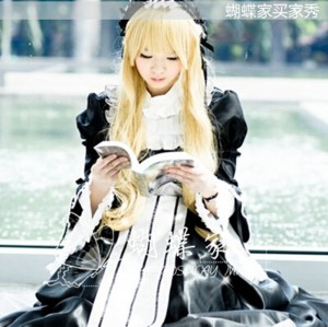 High Quality Gosick Victorique Cosplay Halloween Party Costume Lolita Dress Anime Cosplay Costume HD004