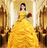 High Quality Disney Halloween Party Costume Belle Princess Lolita Dress Anime Cosplay Costume HD008