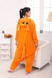 Adult Cartoon Flannel Unisex Kangaroo Animal Onesies Anime Kigurumi Costume Pajamas Sets KT078