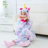 Adult Cartoon Flannel Unisex Stars Flying Horse Animal Onesies Anime Kigurumi Costume Pajamas Sets KT088