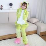 Adult Cartoon Flannel Unisex Frog Animal Onesies Anime Kigurumi Costume Pajamas Sets KT069