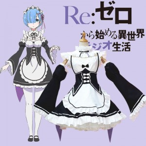 Life in a Different World From Zero Lahm Rem Cosplay Costume Lolita Dress Anime Costumes COS-185