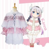New Anime Kobayashi Maid Dragon Cosplay Costume Kanna Kobayashi Halloween Anime Party Costumes COS-180