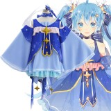 Vocaloid Cosplay Costume Snow Miku Costume Lolita Dress Anime Cosplay Costume COS-198
