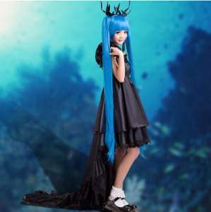 High Quality Vocaloid Miku Costume Girl Lolita Party Dress Halloween Cosplay Costumes HD016
