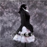 High Quality Fate/Hellow Black Saber Costume Lolita Cosplay Dress Halloween Party Costume HD017