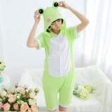 Adult Cartoon Cotton Unisex Frog Summer Onesie Anime Kigurumi Costumes Pajamas Sets ST020