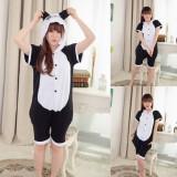 Adult Cartoon Cotton Unisex Panda Summer Onesie Anime Kigurumi Costumes Pajamas Sets ST018