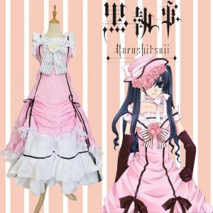 Kuroshitsuji Anime Cosplay Ciel Phantomhive Costume Halloween Party Lolita Dress Cosplay Costumes COS-191