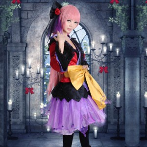 High Quality Vocaloid Luka Costume Cosplay Dress Halloween Party Cosplay Costumes HD019