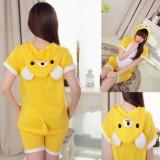 Adult Cartoon Cotton Unisex Rilakkuma Summer Onesie Anime Kigurumi Costumes Pajamas Sets ST012