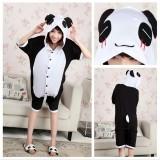 Adult Cartoon Cotton Unisex Panda Summer Onesie Anime Kigurumi Costumes Pajamas Sets ST006