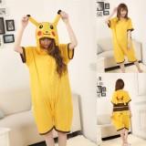 Adult Cartoon Cotton Unisex Pikachu Summer Onesie Anime Kigurumi Costumes Pajamas Sets ST009