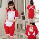Adult Cartoon Cotton Unisex Red Ali Summer Onesie Anime Kigurumi Costumes Pajamas Sets ST015