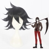 35cm Short Black Hair Wig Angels of Death Isaac·Foster Synthetic Anime Cosplay Wigs CS-379A